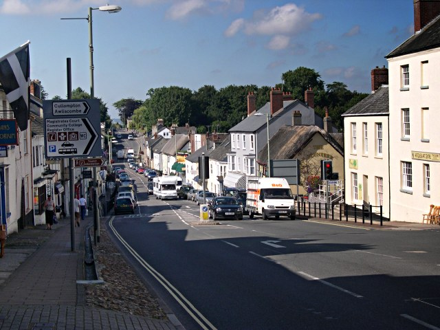 The Western end of Honiton High Street