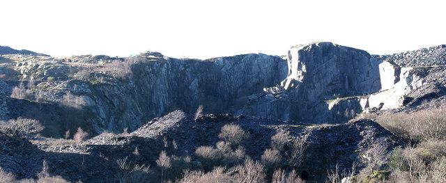 Twll Uchaf, Chwarel Glynrhonwy Uchaf - Upper Pit, Upper Glynrhonwy