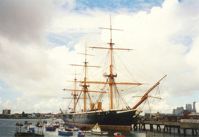 HMS Warrior permanently moored at Portsmouth Harbour