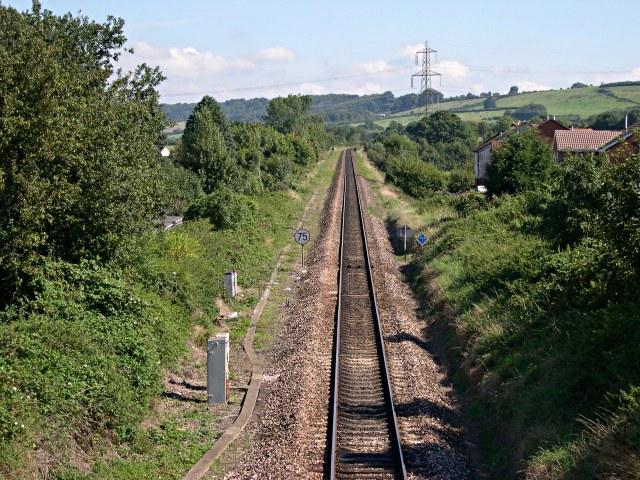Railway line through Honiton