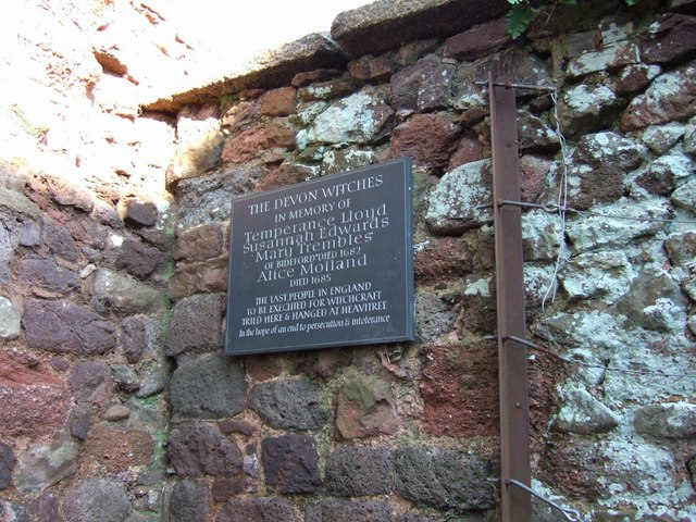 Memorial tablet to the Bideford Witches