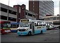 SJ8847 : Leaving Hanley bus station by Tom Pennington