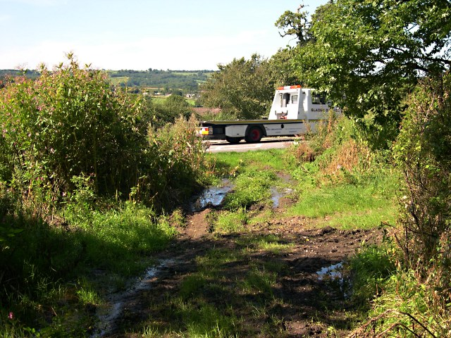 Footpath crossing the A30