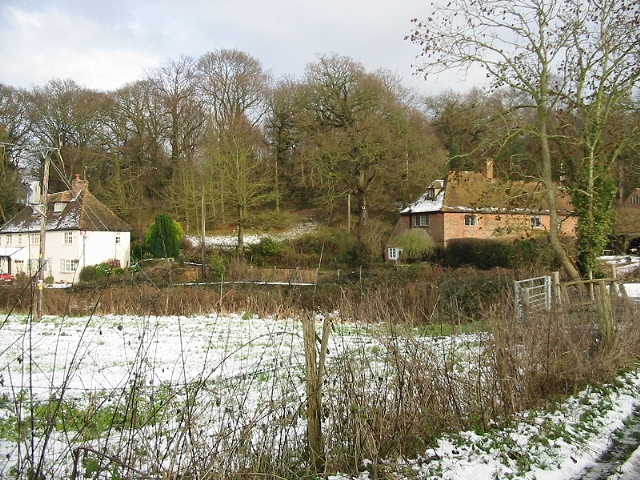 Swanton Farm cottages, looking NE from Swanton Lane