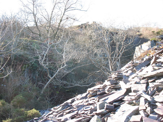 The unnamed pit next to the 2nd pitch of the Ffridd Incline