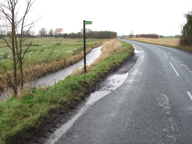 Frozen ditch on Grove Road