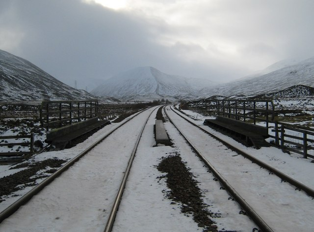 Along the tracks to the Boar of Badenoch.