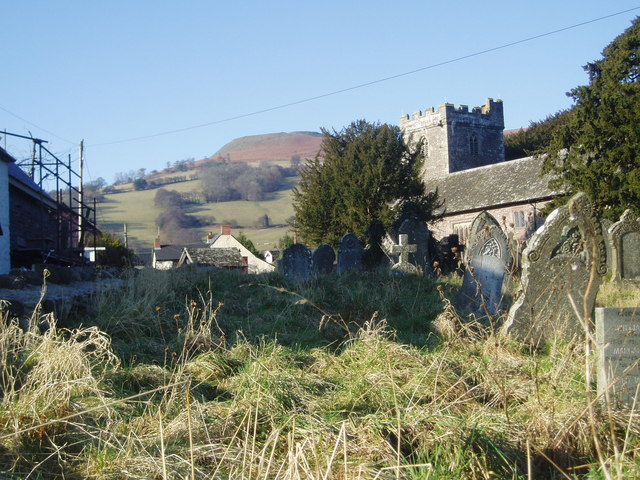 Llanbedr Church and Table Mountain