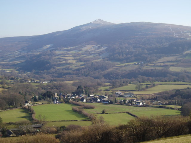 Llanbedr below Sugar Loaf