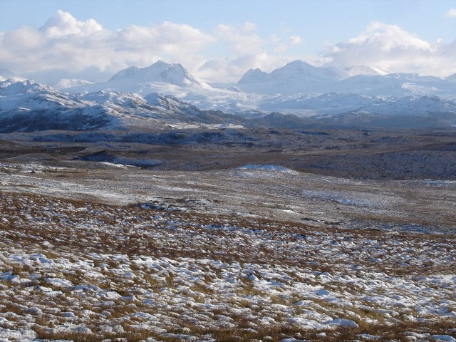 Moorland looking towards Torridon
