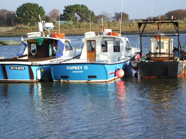 Fishing boats at Keyhaven