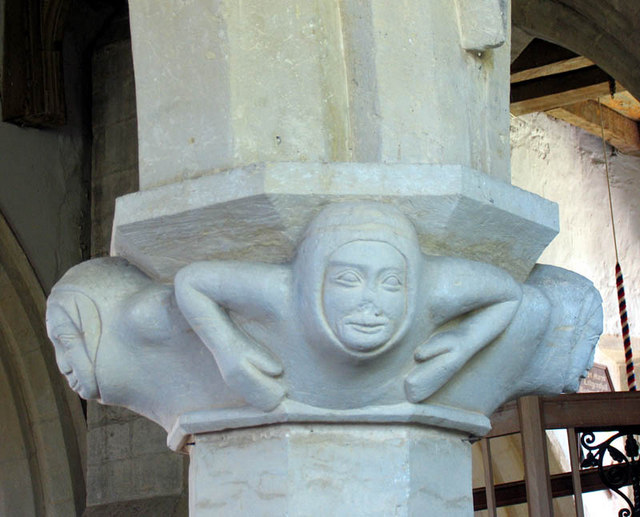 St Mary, Ludgershall, Bucks - Pillar