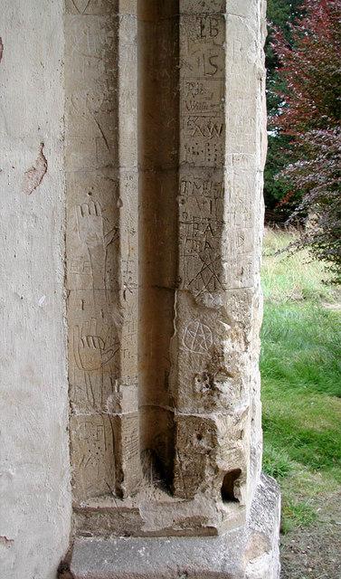 St Peter, Babraham, Cambridgeshire - Graffiti