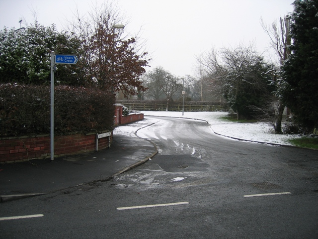 Crossley Crescent off Pipers Lane.