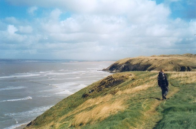 Clifftop path at Llangennith Burrows