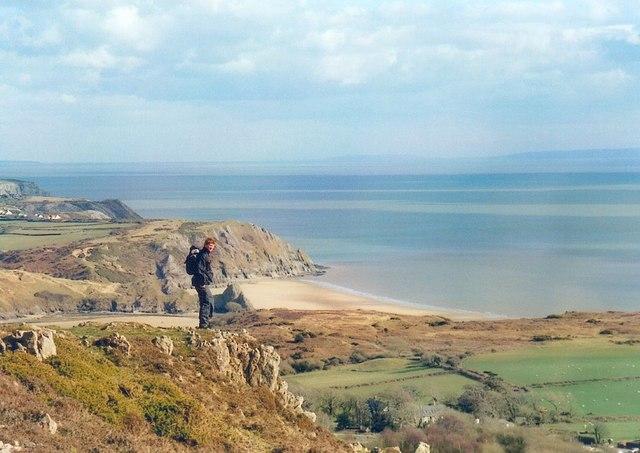 Rocky outcrop on Cefn Bryn