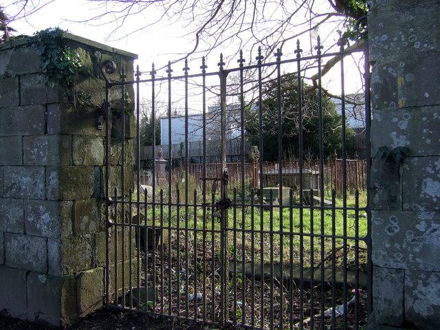 Padlocked cemetery