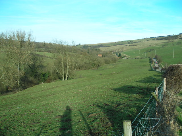 View back down towards Beck Cottage