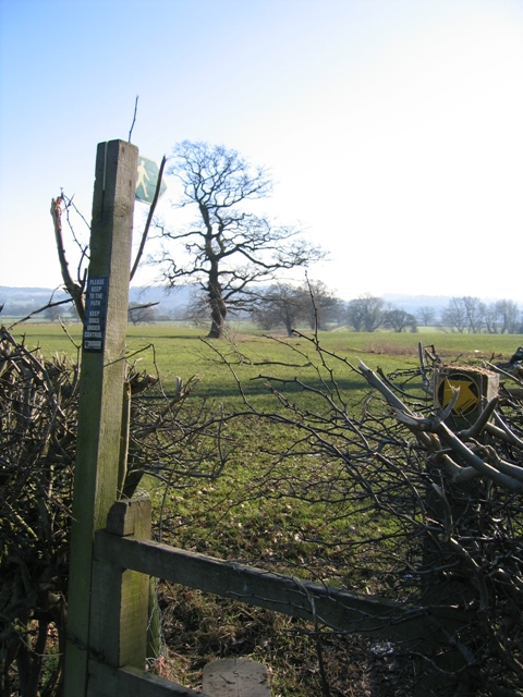 Footpath from Burwardsley Road, Tattenhall to Dark Lane