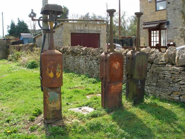 Old petrol pumps in Salford