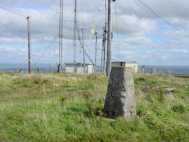 The trig point on Knockanore Mountain
