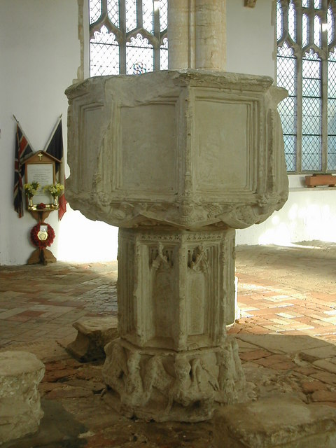 Font in Holy Trinity Church, Blythburgh