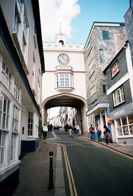 Where Fore Street meets High Street, Totnes