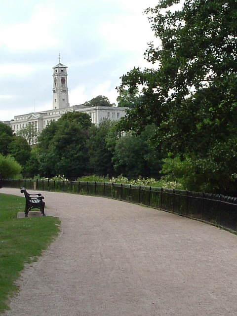 View of Nottingham Uni from Highfields Park