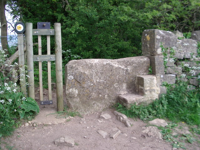 "Stone stile at ""The Fuzzies"" wood, near Westrip"