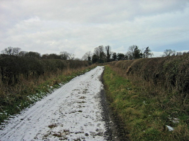 Footpath near Acton House and Acton Hall