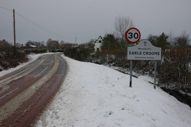 Earl's Croome in  winter