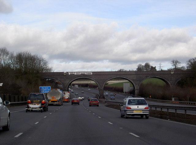 Railway Viaduct over M25