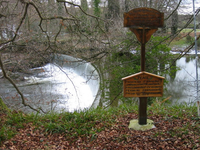 The weir which was the scene of the Guyzance Tragedy