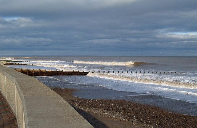 Hornsea Beach in January