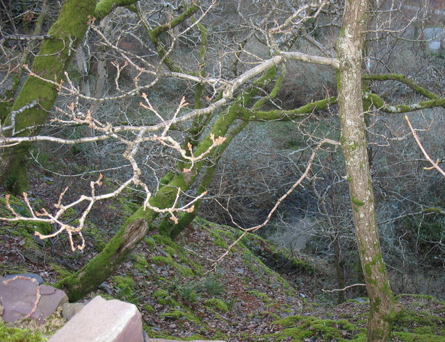 Looking down into the middle pit of the Lower Glynrhonwy Quarry