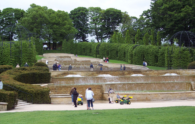 Water feature, Alnwick Castle Gardens
