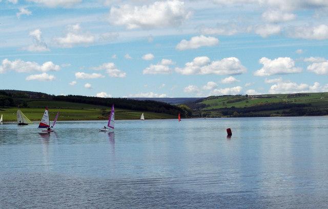 Sailing on Derwent Reservoir