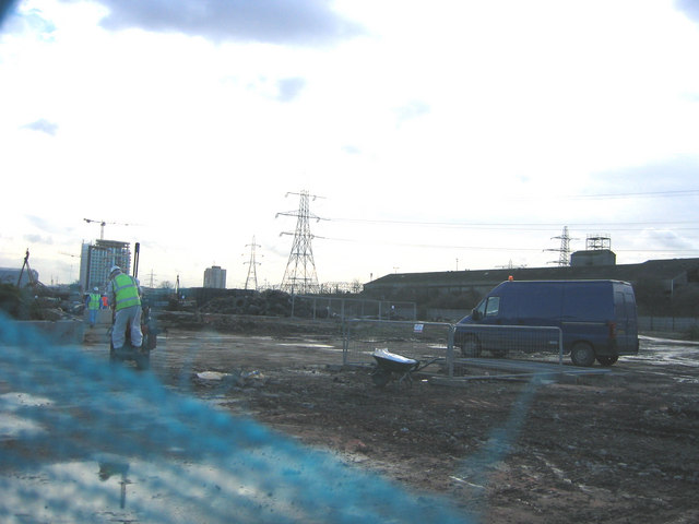 View over the future Olympic Aquatic  Centre site, Carpenter's  Road