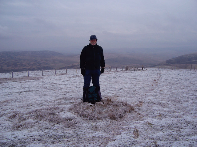 At the summit of Dun Law.