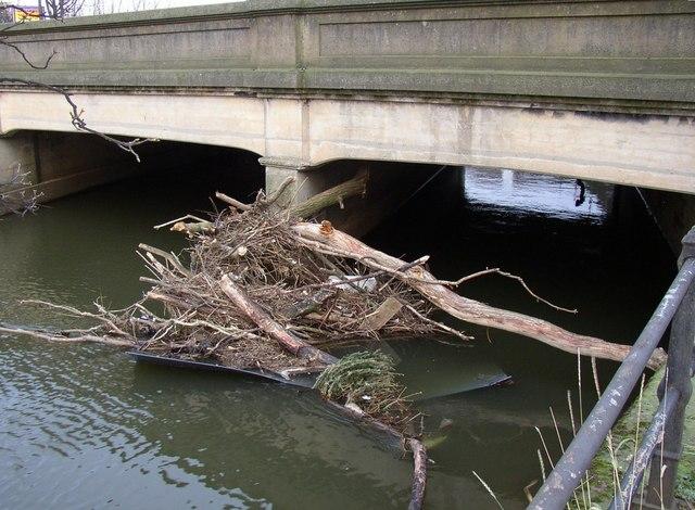 Debris at Baildon Bridge, Shipley