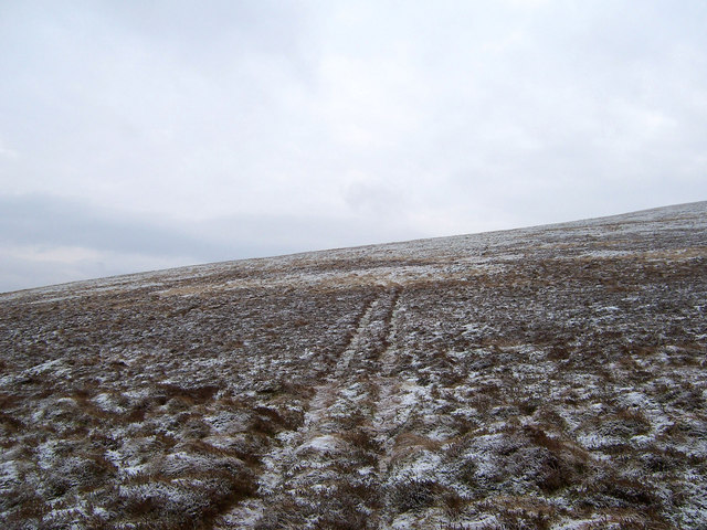 Track leading up the north-west ridge of Dun Law.