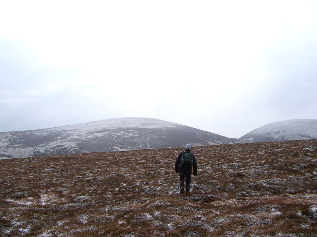 On the summit dome of Glen Ea's Hill