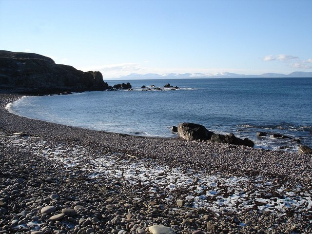 Frost on the beach at Port Erradale