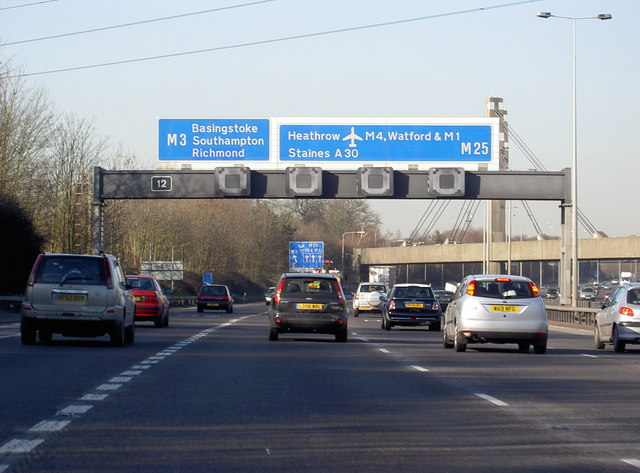 Motorway Gantry over M25