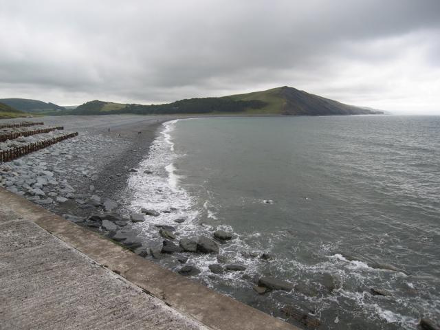 Traeth Tanybwlch from Aberystwyth harbour