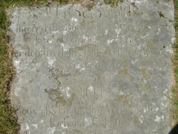 Grave of Richard, Martha and Ashton Beckett