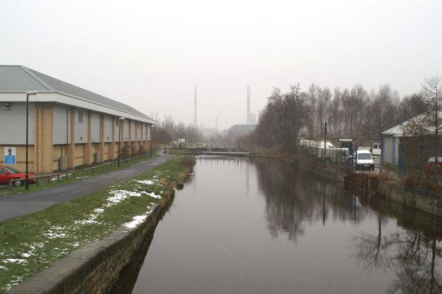 Restored Sankey Canal from Church Street