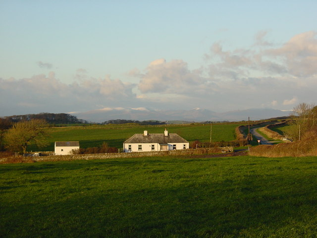 Crossroads at Craig Cottages, with Southern Uplands in background