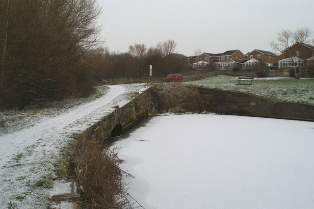 The infilled Hey Lock on the Sankey Canal