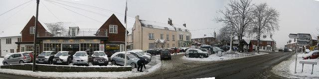 Ticehurst Square & High Street In Snow